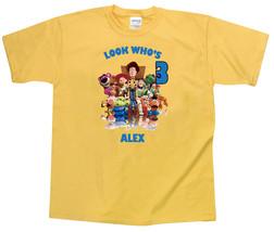 Toy Story Personalized Yellow Birthday Shirt - $16.99+