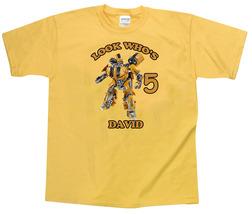 Transformers Bumblebee Personalized Yellow Birthday Shirt - $16.99+