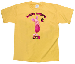 Winnie the Pooh Piglet Personalized Yellow Birthday Shirt - $16.99+