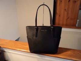 Authentic Michael Kors Jet Set Travel Saffiano Leather Tote Black NWT G ... - $138.59