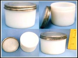 VINTAGE (10) ANCHOR HOCKING 3oz Opal Milk Glass Canning Ointment Jars Me... - $39.99