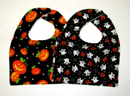 Clearance Baby Bib, Set of 2 Baby Bib, Halloween Theme baby Bib Flannel ... - $7.99