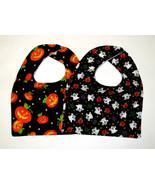 Clearance Baby Bib, Set of 2 Baby Bib, Halloween Theme baby Bib Flannel ... - $7.99