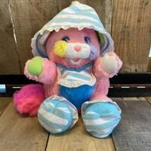 Vintage Mattel Popples Baby Cribsy pink plush bonnet bib booties and Bottle H9 - $42.03
