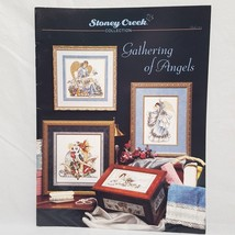 Gathering Angels Cross Stitch Leaflet 152 Stoney Creek Santa 1996 Winter... - $14.99