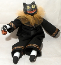 Halloween Black Cat Collectible Doll Figurine  - £35.98 GBP
