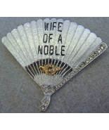 Shriner Pin Brooch Silver Tone Fan Shaped Wife of a Noble Masonic Vintage - $15.00
