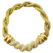 1980s Givenchy Pavé Twisted Cloth Runway Couture Necklace - €211,54 EUR