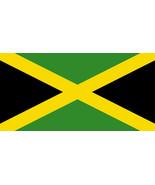 Laminated Jamaica Flag vinyl decal sticker 240mm x 120mm reggae ska bumper - $12.46