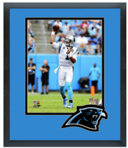 Cam Newton 2014 Carolina Panthers - 11 x 14 Team Logo Matted/Framed Photo - $43.55