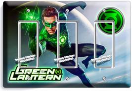 GREEN LANTERN SUPERHERO EARTH GUARDIAN RING TRIPLE GFCI LIGHT SWITCH WAL... - $16.19