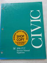Q 1996 Honda Civic CVT Service Repair Manual Supplement OEM Factory Shop Dealer - $8.40