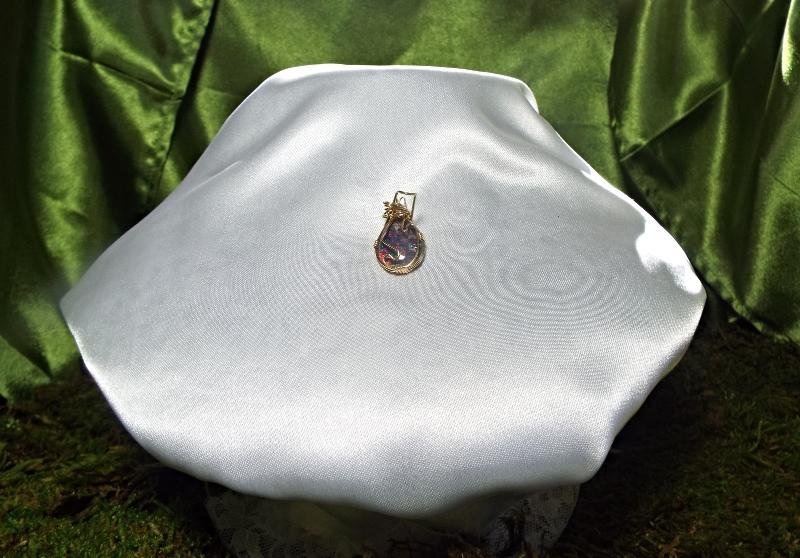 Jewelry By Two Gems (Wp18) 14Kt GF Wire Wrap Pendant w Opal
