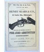 Henry Sears Co Chicago 1879 catalog reprint firearms ammunition rifle pi... - $9.00