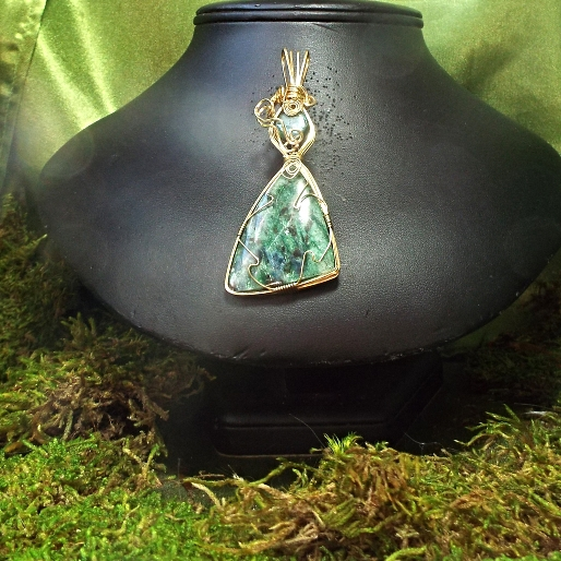 Jewelry By Two Gems (Wp100) 14k Gold Filled Rare Russian Fuchsite Pendant