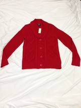 Free Ship Cardigan Sweater New w/Tags Women Large 12 - 14 - $19.99