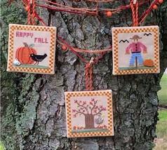 Fall Ornaments cross stitch chart Flowers 2 Flowers - $7.20