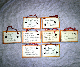 Wholesale Lot #1 of 8 Small Wall Signs or Plaques with Cute Sayings - $16.98