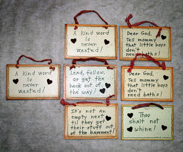 Wholesale Lot #2 of 7 Small Wall Signs or Plaques with Cute Sayings - $16.98