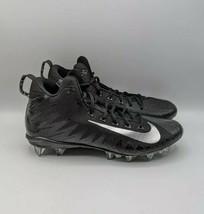 Nike Alpha Menace Pro Mid Football Cleats Mens Size 13 880410-010 BLACK - $38.65