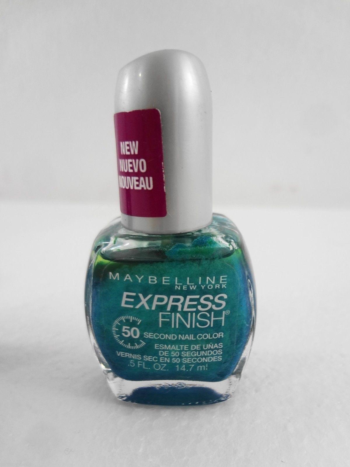Maybelline NY Express Finish Lot 3 Nail Polish Denim Dash Blue + Green + Purple