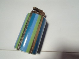 Rare Lefton Modern-Retro Hand Painted Stripes Cigarette Lighter~~mid century - $4.95