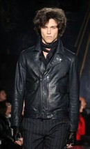 John Varvatos Collection Biker Leather Jacket. Size EU 50 USA 40 BNWT - $947.15