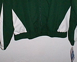 Mens NWT Russell Athletic Team Issue Green White Jacket Size Small