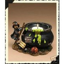 "Boyds Bearstone Votive ""Witchy Boo's Brew"" #27740- Candle -NIB-2004- Retired - $29.99"
