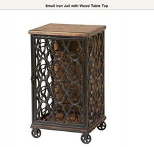 Small Iron Jail with Wood Table Top - $495.00