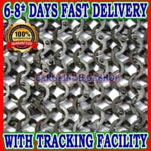 Stainless Steel Chain Mail Shirt Full Flat Riveted Large High Quality Chainmail - $460.50