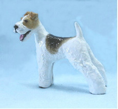 Wire Fox Terrier Dog From Hevener Figurines - $55.00