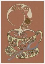 Cappuccino cross stitch chart Alessandra Adelaide Needlework - $15.30