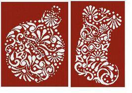 Christmas In White 2 cross stitch chart Alessandra Adelaide Needlework - $24.30