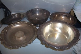 Lot of 5 Silverplate Silver Plate Bowls Interna... - $75.00