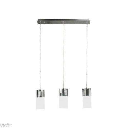 Kenroy Home 80503CH Cylinder 3 Light Pendant with 4' Inch White Opal Glass Shade - $111.47