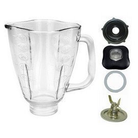 Primary image for 5 Cup Glass Clover Top Complete Blender Jar Assembly Fits Oster