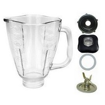 5 Cup Glass Clover Top Complete Blender Jar Assembly Fits Oster - $41.99