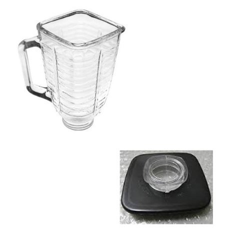 Primary image for NEW 1pcs For Replacement Part Oster glass square jar+jar cap blender blade pa...