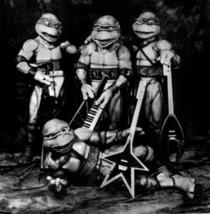 Ninja Turtles Comic Book Action Figures Vintage11X14 BW TV Memorabilia  ... - $13.95