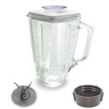 5 cup, square top glass jar complete assembly with Blade,gasket,base,lid - $19.26
