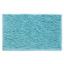 InterDesign Microfiber Fuzi Bathroom Shower Accent Rug, 34 x 21, Aqua - $41.12