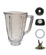 5 cup Square Top Complete Plastic blender Jar Set For Oster - $17.95