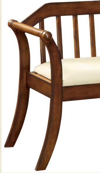 Entryway Bench Hallway Accent Furniture Chair Wood Living Room Oak