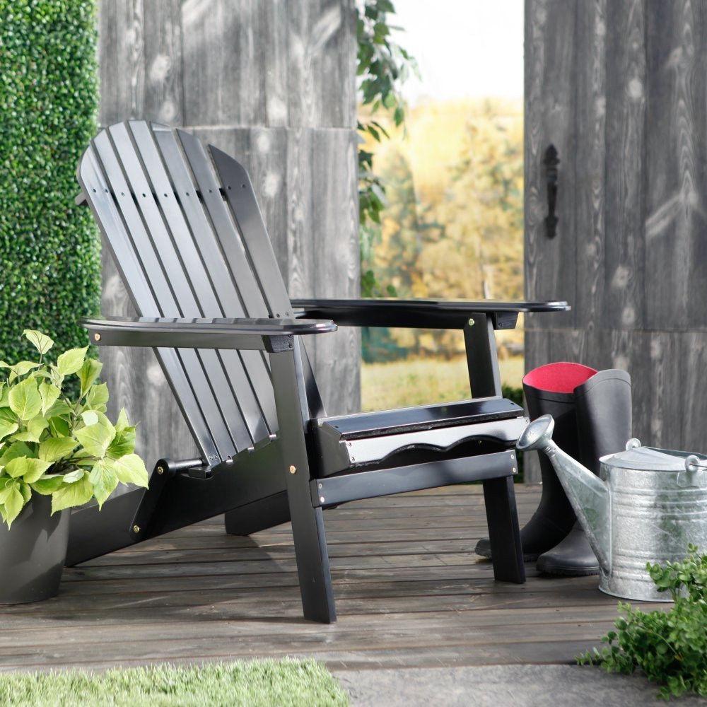 Outdoor Adirondack Chair Hardwood Foldable Patio Porch