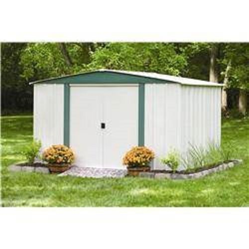 Outdoor storage shed steel building metal garden tool for Garden shed for lawn mower
