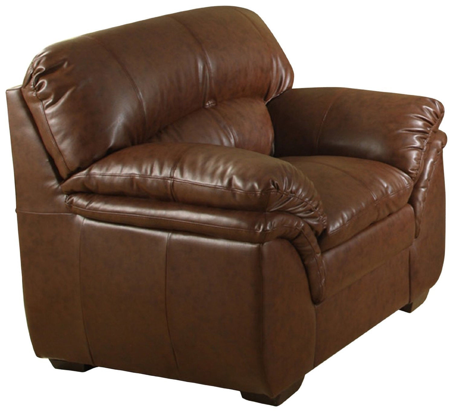 Bonded leather chair furniture living room den office for Overstuffed armchair