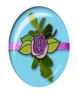 Light Blue Flower Brad-Digital Download-ClipArt... - $4.00