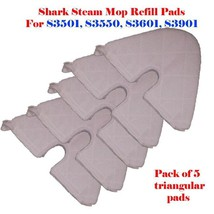 5 Trianglar Steam Mop Replacement Pocket Pads For Shark S3501 S3550 S360... - $15.44