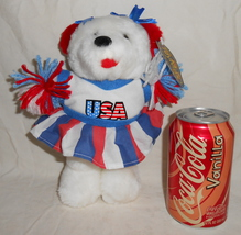 "ToyMax Collection 10"" Red White Blue USA Cheerleader Plush Teddy Bear - €8,52 EUR"
